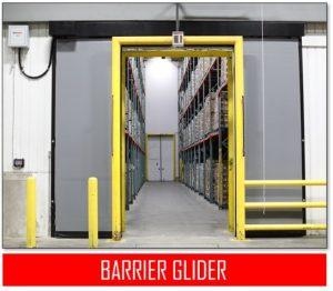 barrier glider freezer door